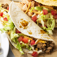 Ground Beef Taco with Soft Shell