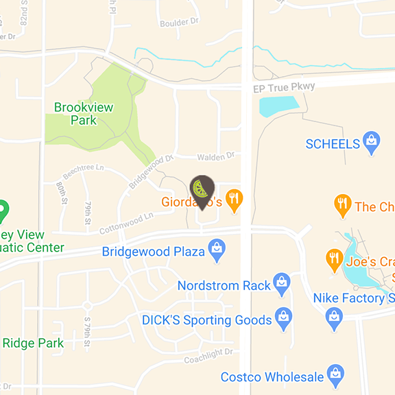 Jordan Creek location map