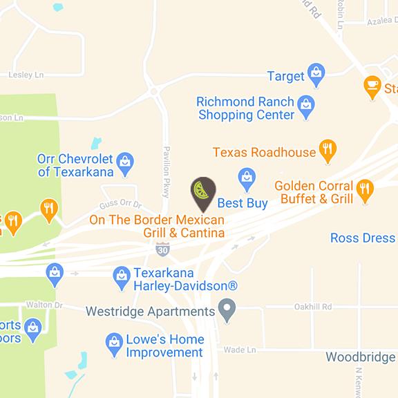Texarkana location map