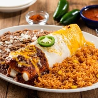 Three-Sauce Fajita Burrito
