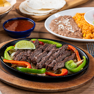 Steak Fajitas at On The Border